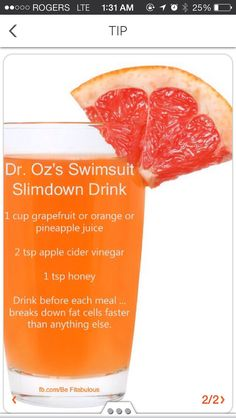 Dr Oz's Swimsuit Slimdown Drink