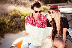 Stock Photo : Young Couple Looking For Directions On the Map Lets Get Lost, Strong Marriage, Young Couples, Road Trippin, Travel Couple, Just Go, Glamour, How To Plan, Budget Plan