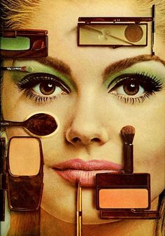 Vintage Make-up Add,I'm going to totatlly recreate this look. So pretty.