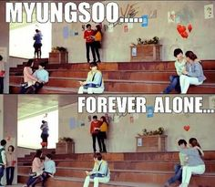 This made me laugh uncontrollably. Let's be forever alone together, okay L? Huhuhuhuhu