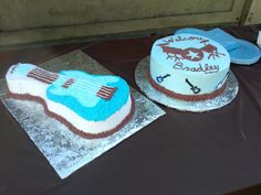 Rock and Roll Baby Shower Cakes