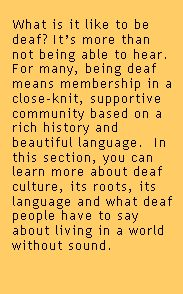 What's it like to be deaf?