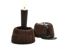Molten Chocolate Cake with Chocolate candle