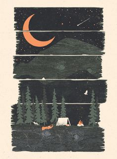 Wish I Was Camping... Art Print
