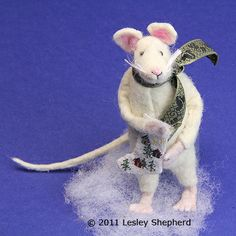 Sew a Poseable Miniature Mouse  From Felt