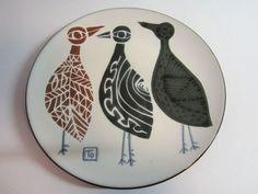 japanese mid century ceramics | Mid Century Modern Ceramic Modernist Plate Wall Hanging Japan.: Modern ...
