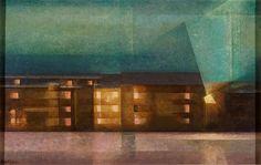 Nächtliche Straße (Beleuchtete Häuserzeile I); 1921; Lyonel Feininger
