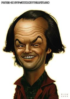 Jack Nicholson..FOLLOW THIS BOARD FOR GREAT CARICATURES OR ANY OF OUR OTHER CARICATURE BOARDS. WE HAVE A FEW SEPERATED BY THINGS LIKE ACTORS, MUSICIANS, POLITICS. SPORTS AND MORE...CHECK 'EM OUT!!