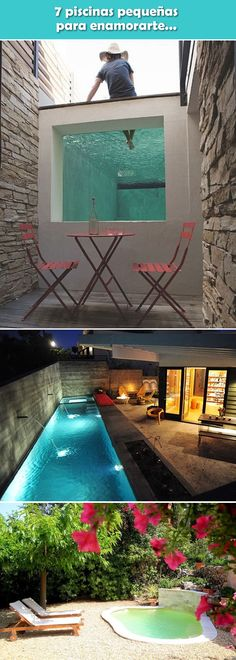 49 Landscaping Ideas For Backyard Swimming Pools Small Backyard Ponds, Backyard Pool Designs, Swimming Pools Backyard, Swimming Pool Designs, Pool Landscaping, Outdoor Pool, Outdoor Decor, Small Pools, Architecture