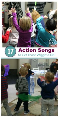 The Best Preschool Music for Energetic Kids 17 action songs for toddlers and preschoolers - perfect for rainy days when you have high-energy kids who need to get the wiggles out! Teaching 2 and 3 Year Olds Toddler Fun, Toddler Preschool, Toddler Music, Toddler Circle Time, Toddler Games, Preschool Action Songs, Action Songs For Kids, Preschool Music Activities, Movement Songs For Preschool