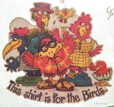 This T-Shirt is for the Birds Vintage 1979 Iron On Heat Transfer by VintageIronOn on Etsy