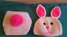 Crochet Bunny Baby Set by knitcreations86 on Etsy