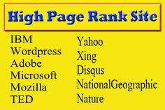 I will create manually pr9 to pr10 SEO Safe High quality 100 Backlinks from world top domain  You will get them from:  Microsoft  WordPress  Adobe  Mozilla  Xing  Disqus  TED  Yahoo  National Geographic  Nature   etc  And  10 Google plus Post Shares  30 Facebook  40 Twitter Retweets  10 Pinterest Repin        #backlinks #authoritybacklinks #seo, #socialshares