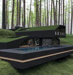 Dream Home Design, Home Design Plans, Modern House Design, Villa Design, Modern Architecture House, Interior Architecture, Biophilic Architecture, Residential Architecture, Luxury Interior