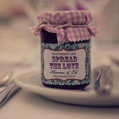 homemade jam favours