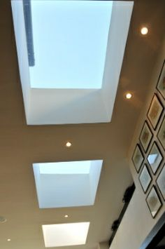 Aluminium rooflights or skylights. Product used: Sunparadise Hawai80 roof glazing