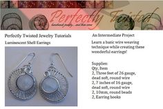 Luminescent Shell Earrings  Wire Weaved by PerfectlyTwisted, $8.13
