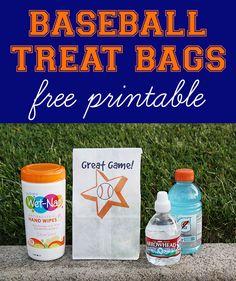 Baseball Snack Bags | Free Printable - Chaos & Love #showusyourmess #pmedia #ad