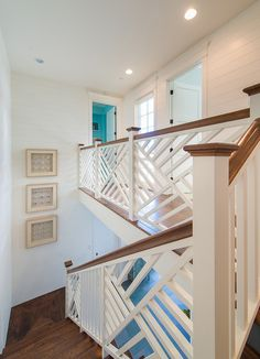 Love the staircase railing - A House in Manhattan Beach That Loves the Blues | Hooked on Houses
