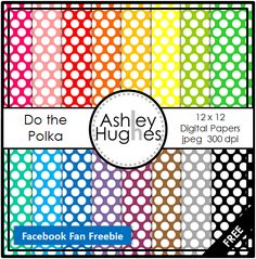 FREE Do the Polka: 12x12 Digital Papers for Commercial Use
