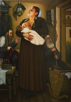 "Saatchi Art Artist eduard gurevich; Painting, ""A Yiddishe Mame."" #art"