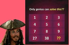Which Number Replace the Question Mark - Logic Math puzzle