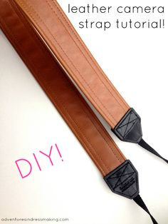 Adventures in Dressmaking: Easy DIY leather camera strap tutorial and Leather Hide Store giveaway