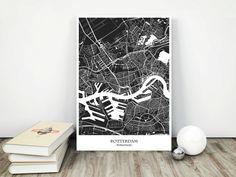 Rotterdam City Map Printable Download jpg File by MarinaMapPrints