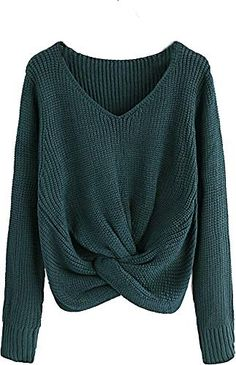 New Milumia Twisted Sweater Tops Long Sleeves Fall Winter Loose Fit Shirts Aqua online shopping - Pullover Cute Sweaters For Fall, Winter Sweaters, Sweaters For Women, Women's Sweaters, Oversized Sweaters, Casual Sweaters, Vintage Sweaters, Pullover Sweaters, Loose Fit