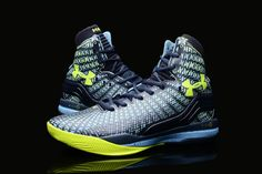UA Curry 2 Under Armour Stephen Curry 2 Yellow Blue Shoes