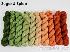 The highest quality hand-dyed, just for you. Yarn Inspiration, Beautiful Gorgeous, Sugar And Spice, Gradient Color, Merino Wool Blanket, Yarns, Spinning, Blankets, December