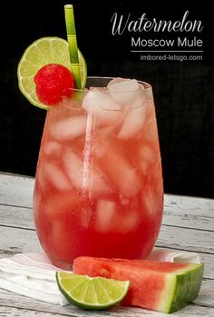 Watermelon Moscow Mule made with fresh Watermelon juice #watermelon #cocktail