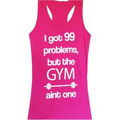 99 Problems Workout Tank Top Workout Clothes Motivational Clothing... ($25) ❤ liked on Polyvore featuring tops, shirts, work out, light pink, tanks and women's clothing