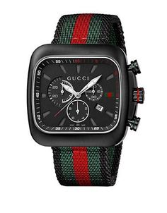 Gucci Mens Black Chronograph Watch Men's Multi