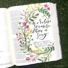 Started ' e-votional today! Loved digging in to what it means to truly worship God. Scripture Art, Bible Art, Bible Scriptures, Bible Drawing, Bible Doodling, Bible Journaling For Beginners, Bible Study Journal, Bibel Journal, Worship God