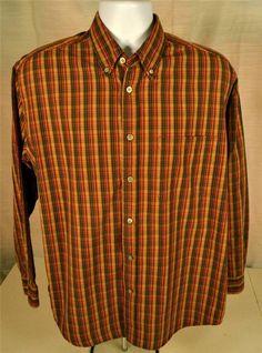 Men's Size Medium Long Sleeve Shirt By IZOD Jeans 100% Cotton #IZOD #ButtonFront
