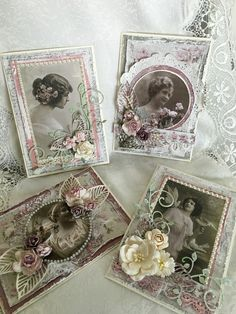 Cards I created using Pion Design Images and Maja Design paper collections