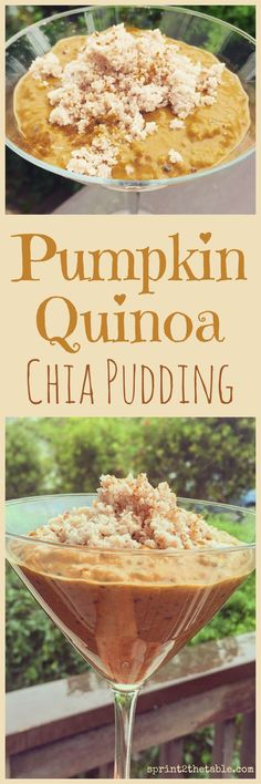 Pumpkin Quinoa Chia Pudding - a grain-free, pumpkin pie-inspired breakfast or snack! Pumpkin Pudding, Chia Pudding, Protien Pudding, Pudding Corn, Suet Pudding, Biscuit Pudding, Figgy Pudding, Tapioca Pudding, Cheesecake Pudding