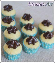 Mini cupcakes de melón con buttercream de chocolate by IdeandoArt