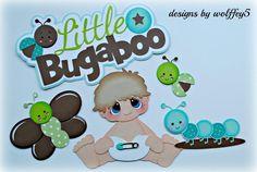 ELITE4U BABY BOY BUG paper pieced premade Scrapbook page album die cut WOLFFEY5 #HANDMADE