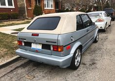 1989 (approximately) Volkswagen Cabriolet spotted in Chicago. Volkswagen, Chicago, Vehicles, Car, Vehicle, Tools