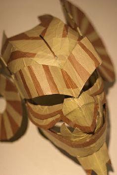 Cardboard gargoyle mask