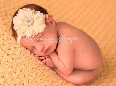 Mini Flower Petal Glitter Headband Pearl Headband by MiyahsCloset