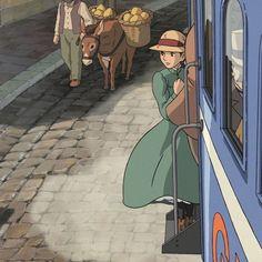 Studio Ghibli Art, Studio Ghibli Movies, Aesthetic Japan, Aesthetic Anime, Studio Ghibli Characters, Pix Art, Chef D Oeuvre, Howls Moving Castle, Hayao Miyazaki