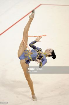 Anna Bessonova of the Ukraine competes in the Individual All-Around final of the rhythmic gymnastics held at the University of Science and Technology Beijing Gymnasium on Day 15 of the Beijing 2008 Olympic Games on August 23, 2008 in Beijing, China.