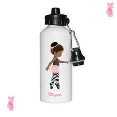 Personalised water bottle Ballet water bottle Dance by cjcprint