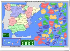 """""""Puzzle de provincias de España"""" Spanish Teacher, Social Science, Continents, Social Studies, Geography, Puzzles, Spain, Teaching, Math"""