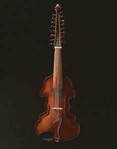 Viola dAmore made by Johann Stephan Thumhart, spruce and maple wood, 1783, made in Straubing, Germany.