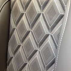 TheHogRing.com Page Liked · November 19 · How about those diamonds? One of many custom insert patterns offered by @alealeather #thehogring #autotrim #leathercraft #upholstery #autoupholstery #leather #carinterior #sewing #stitching #leatherwork