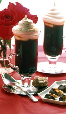 Caffe Mocha Amoroso - A prelude to love: coffee, brandy and chocolate make a happy ménage a trois. When you add crème de cacao and whipped cream, you get a drink that must be savored slowly with
